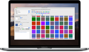 Perfect Contrast app showing different colors, running in light mode on MacBook Pro